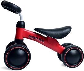 LVPY Mini Lauflerndreirad , Kinderlaufrad – stabiles Sicheres Laufrad – Kinder Spielzeug ab 1 Jahr, Schwarz Rot