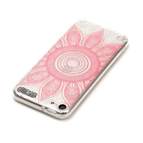 Qiaogle Téléphone Coque - Soft TPU Silicone Housse Coque Etui Case Cover pour Apple iPhone 6 / iPhone 6S (4.7 Pouce) - XS42 / Pink fleur XS42 / Pink fleur