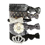 Damen Kinder Mädchen Haargummi Haarschmuck Zopfgummi Zopfband 5pcs Süßigkeiten Farbe Strass Haarband Haare Seil Armband Armband # 8 - zwei