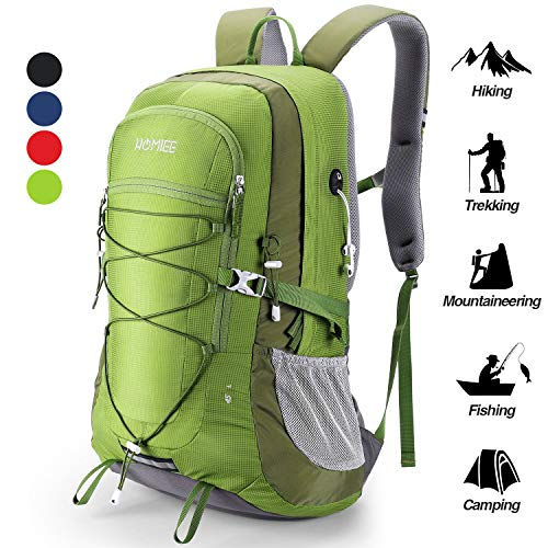 Homiee zaino da trekking 45 litri, resistente all'acqua, zaino da escursione per trekking alpinismo, multifunzione zaino da campeggio per sport viaggio, donna e uomo, verde