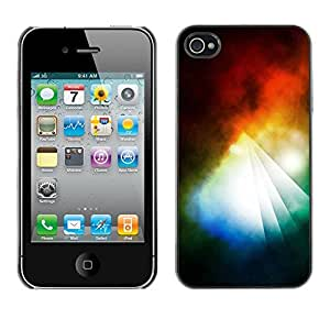 Omega Covers - Snap on Hard Back Case Cover Shell FOR Apple iPhone 4 / 4S - Prism Dark Black Vibrant Light Sun