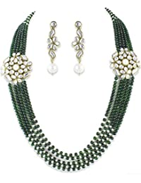 Shining Diva Royal Kundan Fancy Wedding Party Traditional Jewellery Set / Necklace Set For Women
