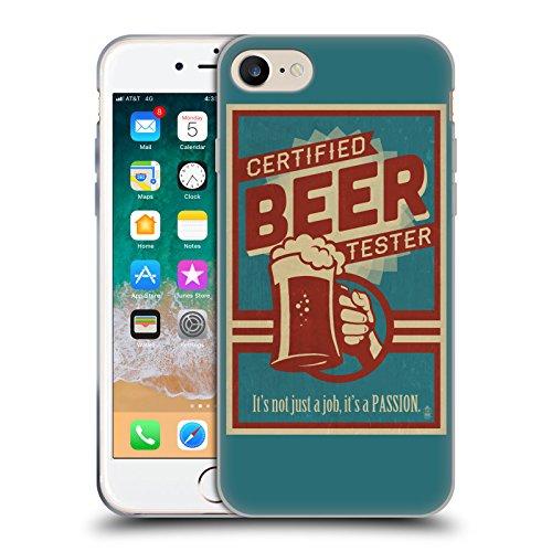 Head Case Designs Ufficiale Lantern Press Tester Birra per Uomini Cover Morbida in Gel per iPhone 7 / iPhone 8