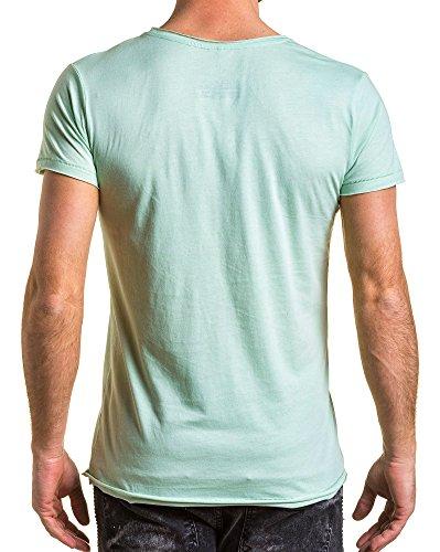 BLZ jeans - T-Shirt gedruckt grünes Licht Gemüsemann Grün