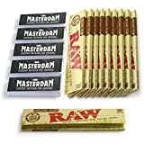 [10 Pack] RAW Organic Hemp - King Size Slim Rolling Papers + [Bonus] 5 Booklets of Mast... Best Review Guide