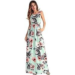 Mujeres Túnica Floral Oversized de Gran tamaño Baggy Kaftan Long Maxi Shirt Dress