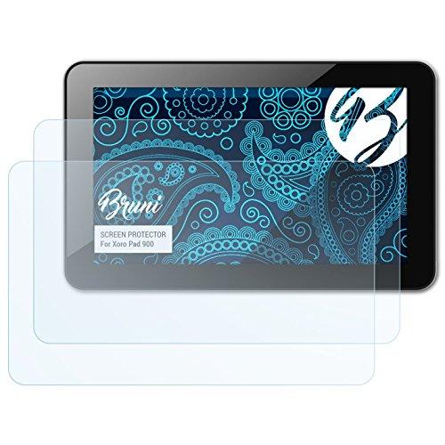 Bruni Schutzfolie für Xoro Pad 900 Folie, glasklare Displayschutzfolie (2X)