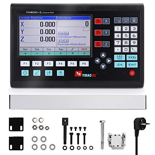 Fesjoy Digitalanzeige Digitalanzeige, 7 Zoll LCD Großbild Gitter CNC Digitalanzeige Drehbank Bedienfeld Steuerplatine Gravierfräsmaschinen Steuerungssystem