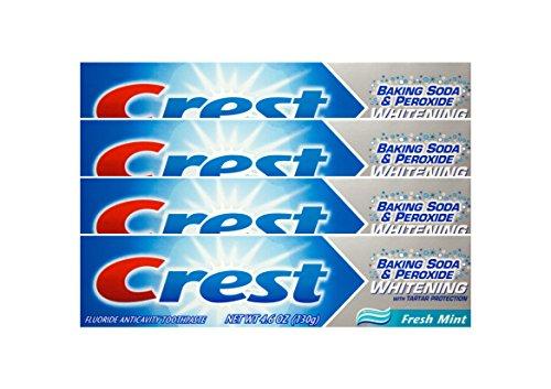 4x CREST Baking Soda & Peroxide fresh mint Zahnpasta 130g Whitening