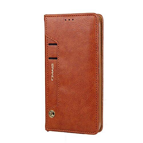 Schützen Sie Hüllen für Samsung Galaxy S8 Handy, Fall Damen PU Leder Flip Handtasche elegante stilvolle Handy-Schutzhülle mit Kartenhalter Geld Brieftasche Case Cover für Samsung S8-Brown (- Geldbeutel-handy-fällen, Samsung)
