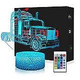3D Traktor Lampe LED Nachtlicht mit Fernbedienung, USlinsky 7 Farben Wählbar Dimmbare Touch Schalter Nachtlampe Geburtstag Geschenk, Frohe Weihnachten Geschenke Für Mädchen Männer Frauen Kinder