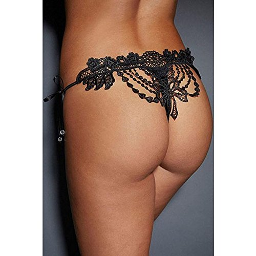 IHRKleid Femmes Lingerie Slips en dentelle Noir