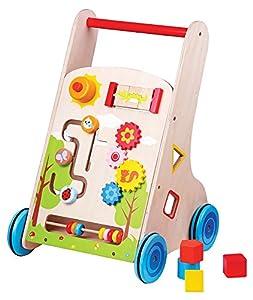 New Classic Toys Nuevos Juguetes Clásicos - 1302 - Vehículo para los niños - Carretilla Pulse Multi-Actividad 7 en 1