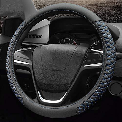 Preisvergleich Produktbild TZYY Universal Direkte Lenkradhülle, Mikrofaser Echtes Leder Auto lenkradhülle Auto Slip Dekoration Passen sie die meisten geländewagen LKW-S Durchmesser:38cm(15inch)