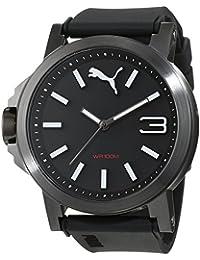 Puma Time Herren-Armbanduhr 10346 ULTRASIZE 45 - GUN BLACK Analog Quarz Plastik PU103462019