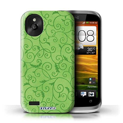 Kobalt® Imprimé Etui / Coque pour HTC Desire X / Rose conception / Série Motif de la vigne Vert