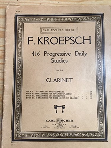 Carl fischer music the best amazon price in savemoney f kroepsch 416 progressive daily studies for the clarinet book 1 167 excercises fandeluxe Images
