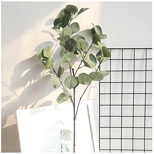 VNEIRW 1PC Künstlich Eukalyptus Pflanze Zweig eukalyptus blätter Deko künstliche Silber-Dollar-Eukalyptusblätter für Garten, Hochzeit, Haus, Außen- und Innendekoration (Grün) - Künstliche Adventskranz Kleiner