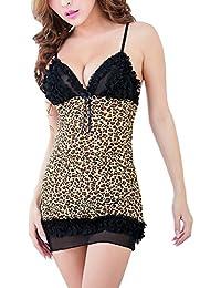 Valin sauvage Leopard Gallus Nuisettes Ensemble lingerie sexy, léopard