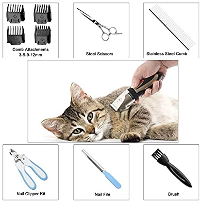 Sminiker Pet Grooming Clippers Low Noise Dog Clippers Cordless Pet Clippers Rechargeable Pet Hair Shaver Professional… 5