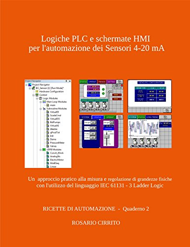 Logiche PLC e schermate HMI per l'automazione dei Sensori 4-20 mA: Un  approccio pratico alla misura e regolazione di grandezze fisiche con l'utilizzo ... DI AUTOMAZIONE Vol. 2) (Italian Edition) -