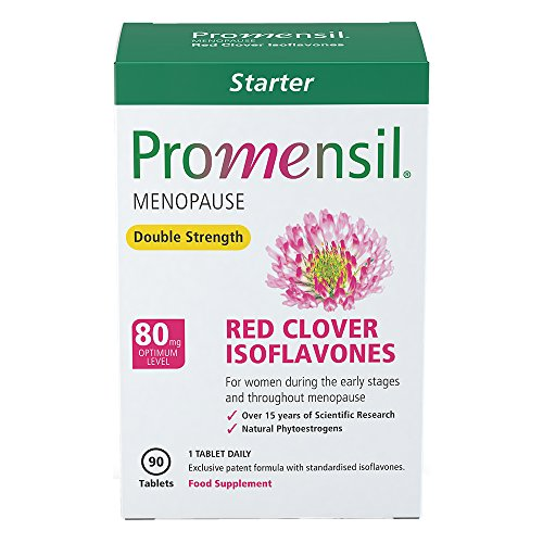 Promensil Menopause Double Strength Red Clover Isoflavones 80 mg, 90 Stück, 1er Pack (1 x 56 g) (1 Standardisierte Extrakt)