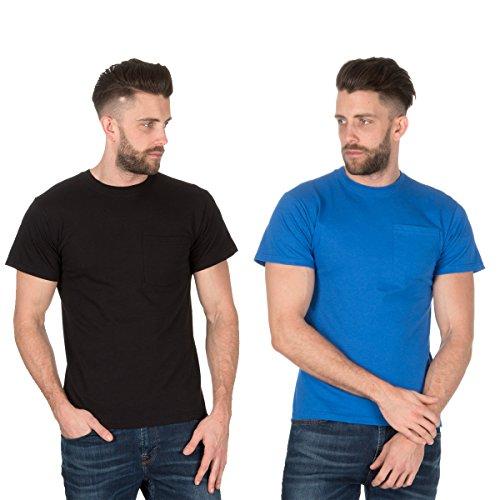 Fruit of the Loom Men's Plain Heavy Cotton (2 Pack) T-Shirts