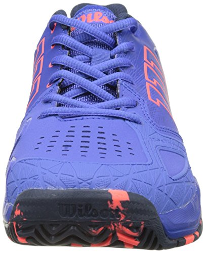 Wilson Kaos Comp W Amparo Blu/Surf the W/Fier, Chaussures de Tennis Femme Bleu (Amparo Blue / Surf The Web / Fiery Cora)