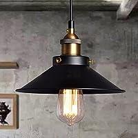 Esoes Vintage techo - Vintage Industrial Chandelier Cage Retro Lámpara de techo Metal Pantalla para Base E27, Negro (Exclud de la bombilla)