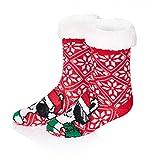 Belovecol Jungen Mädchen Christmas Weihnachtssocken Unisex Rutschfeste Kuschel Flauschige Socken Weihnachten Socks für Kinder