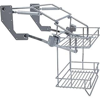 Hafele Pull Down Two Tier Kitchen Wire Shelf (500mm unit)