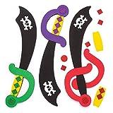 Baker Ross Moosgummi-Bastelsets 'Piratenschwert' (4 Stück) - für Kinder zum Verzieren und Verkleiden