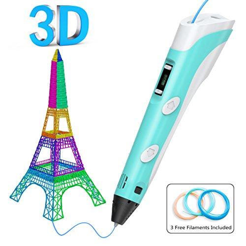 Tintec 3D Stift, 3D Druckstift 3D Stift Set 3D Pen mit LED-Bildschirm 1.75mm PLA/ABS Filament für Kinder und Erwachsene, Zeichnung und - Abs-regler