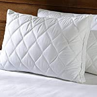 Home Style India Standard Size with hi Flipper Hypoallergenic 100% Cotton Satin Pillow Protector Cover Set of 2 pic Combo Colour White (Limited Edition) (18 x 27) (White, 2)
