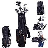 COSTWAY Golftasche 9 Inch | Golfbag 7 Schläger | Pencil Bag | Profi-Reisebag | Ständerbag mit Kopfteil und Tragegurt