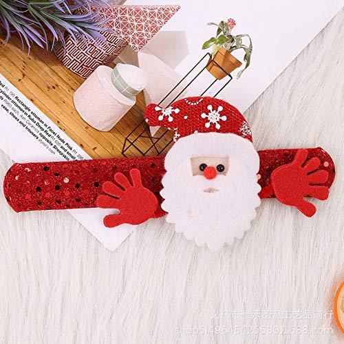 sweeTvT-NEW Weihnachtskreis Dekoration Geschenk Kinderspielzeug Weihnachtsfeier Aktivitäts-Armband, Weihnachtsmann (12 Stück)