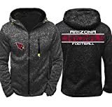 CCKWX NFL Hoodie - Arizona Cardinals High Neck Fußball Unisex Bequeme Trainingssportkleidung, Warme Fleece Langarm-Pullover