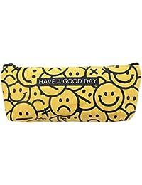 Smile Emoji Estuche de papelería escolar suministros estudiante lona pluma caja regalo cuiyoush, ...