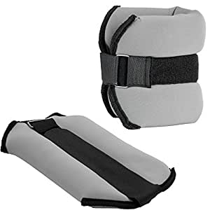 MOVIT® Neopren Laufgewichte 2 x 2 kg Gewichtsmanschetten Armgewichte Beingewichte Fußgewichte Fitness Joggen Walken