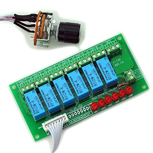 Electronics-Salon 6 Kanal unsymmetrischen Stereo oder Symmetrische Mono-Audio-Eingangs-Schalter Relais Modul. 50 Mm-modul
