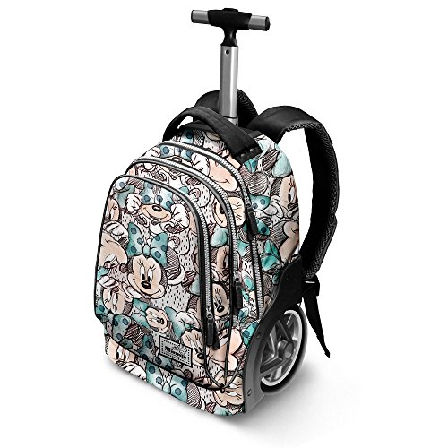 Disney classic minnie drawing-gt travel trolley-rucksack zaino casual, 42 liters, grigio