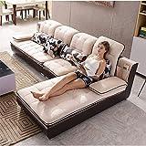 JINPENGRAN Wohnzimmer Sofa - Sofa - Mode Stoff Sofa - Kombinationsset - Cafe Hotelmöbel - Einfaches Freizeitsofa,Natural