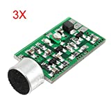 MYAMIA 3Pcs Fm Wireless Microfono Pick-Up Trasmettitore Audio Wireless Fm Emissione Mic Core Board V 4.0 100Mhz