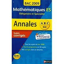 ANNAL 09 ABC SUJ COR MATHS ES