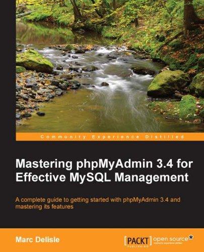 Mastering phpMyAdmin 3.4 for Effective MySQL Management (English Edition)