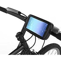 qubbi® Soporte para teléfono móvil Moto y Bicicleta Soporte para teléfono móvil resistente al agua para smartphone en negro