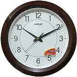 Ajanta (Oreva) Quartz Wooden Look Plastic Round Shape 32 Cm X 32 Cm Fancy Premium Home Decor Wall Clock (Wood) For Home And Office 5187