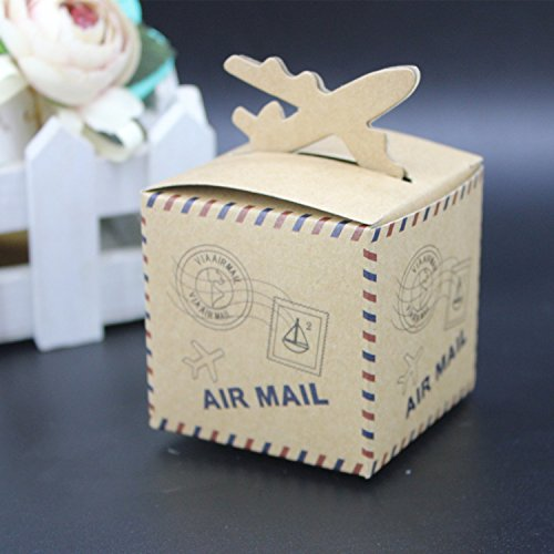 50 LOVELY Flugzeug Rustikal Kraft Candy Box Hochzeit Party Box Geburtstag Dekorationen Kids Party Dekorationen