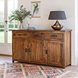 The Attic French Style Sheesham KL-441 Sideboard (Matt Finish, Honey)