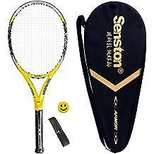 Senston Calidad Carbono Raqueta de Tenis Para Adulto / Bolsa de Tenis / 1 Grip / 1 Amortiguadores